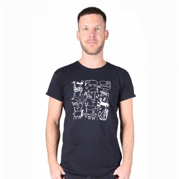 SERENGETI Männer Shirt Schwarz