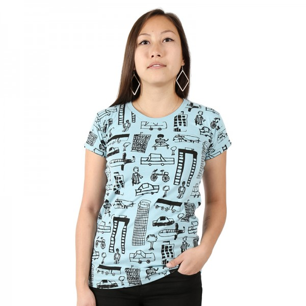 NAIROBI CITY Women Shirt Light Blue