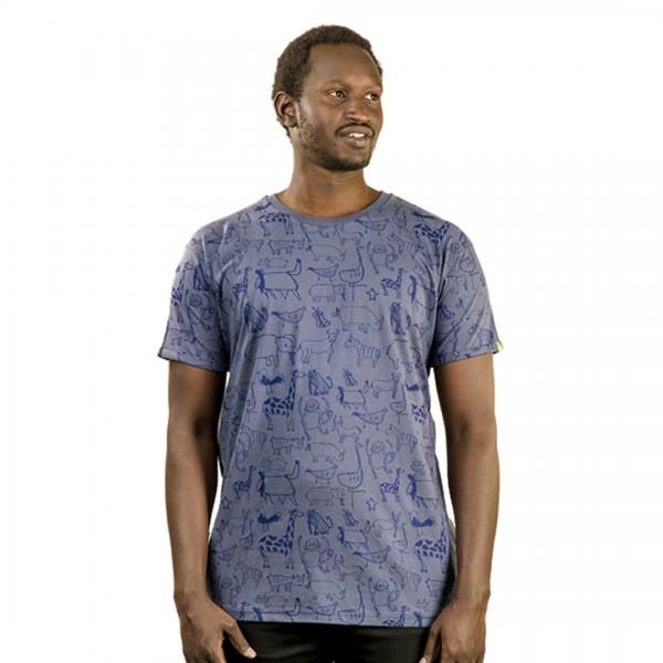 WANYAMA Männer Shirt Charcoal
