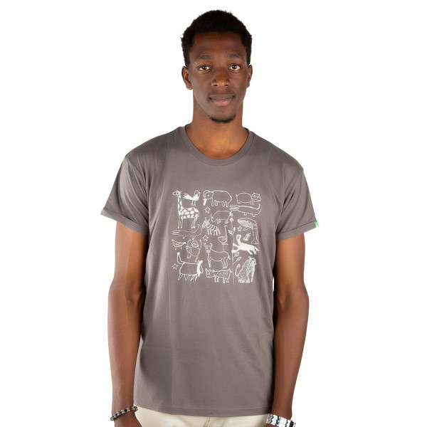 SERENGETI Men Shirt Dark Grey