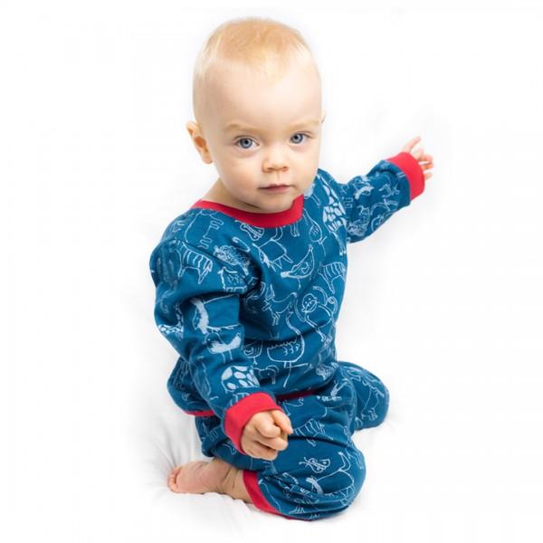 WANYAMA Baby Pyjama Petrol