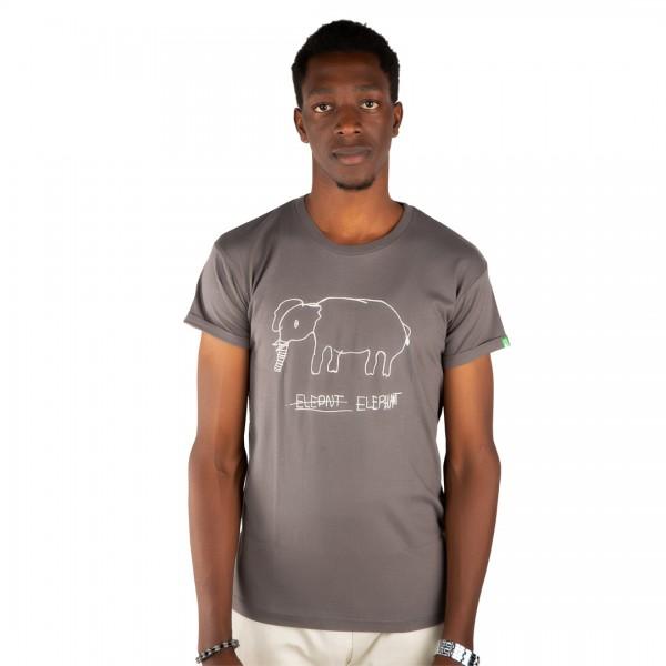 ELEPHANT Männer Shirt Dunkelgrau