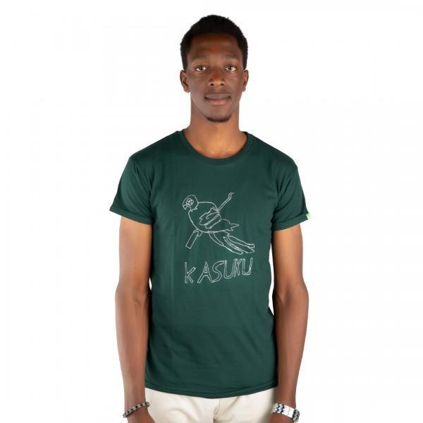 KASUKU Männer Shirt Dunkelgrün