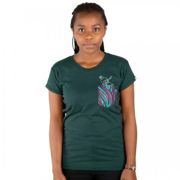 POCKETPARROT Women Shirt Dark Green
