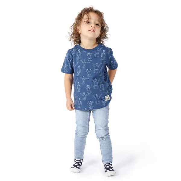 DANSI Kinder Shirt Blau.