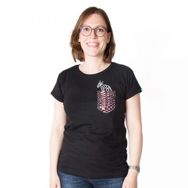 TASCHENZEBRA Frauen Shirt Schwarz