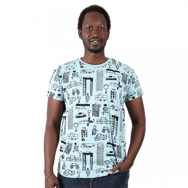 NAIROBI CITY Männer Shirt Hellblau.