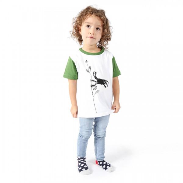 NYANI Kinder Shirt Weiß.