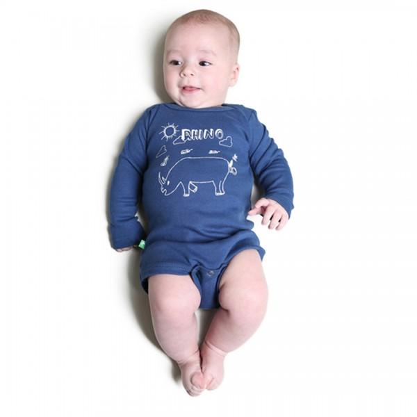 RHINO Babybody Blau