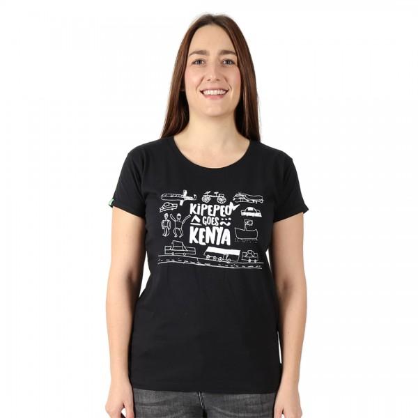 KIPEPEO GOES KENYA Frauen Shirt Schwarz