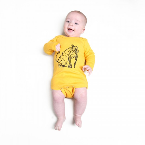 LEOPARD Babybody Yellow