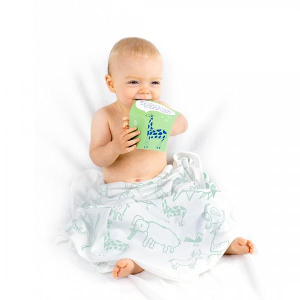 WANYAMA Baby Badetuch Weiß