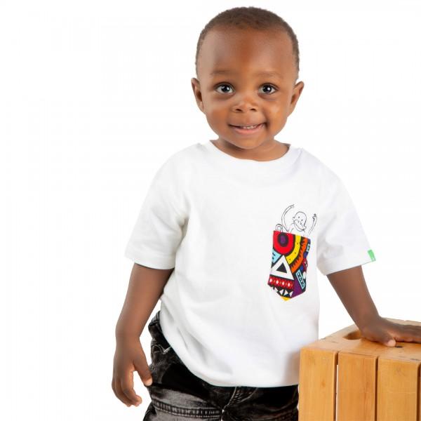 NYANI POCKET Kinder Shirt Weiß