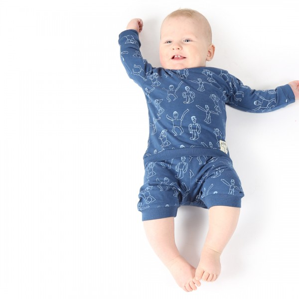 DANSI Baby Pyjama Blau