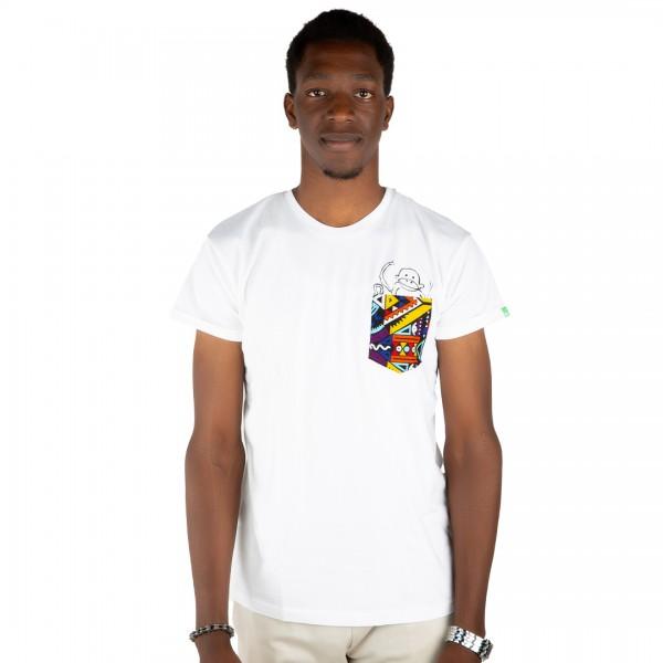 NYANI Männer Shirt Weiß