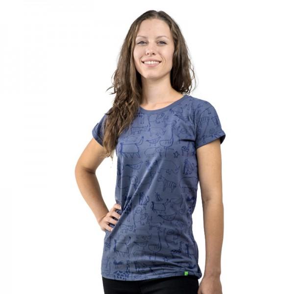 WANYAMA Frauen Shirt Charcoal.
