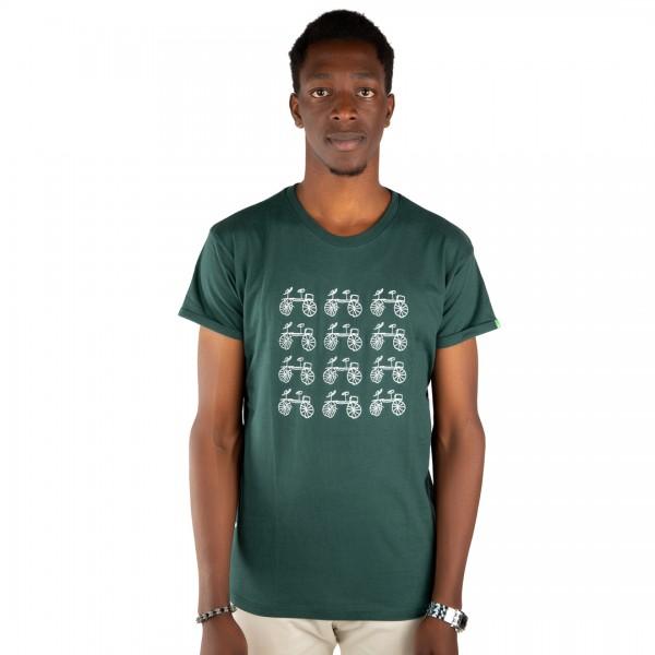 BAISIKELI V.2 Männer Shirt Dunkelgrün