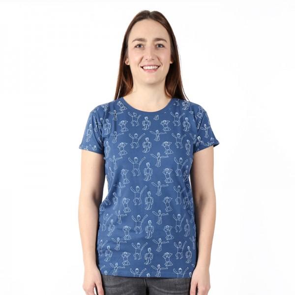 DANSI Frauen Shirt Blau.