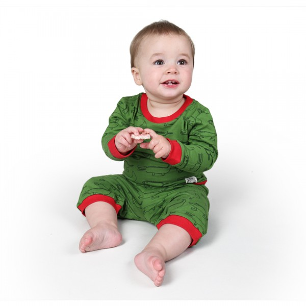 CROCODILES Baby Pyjama Green
