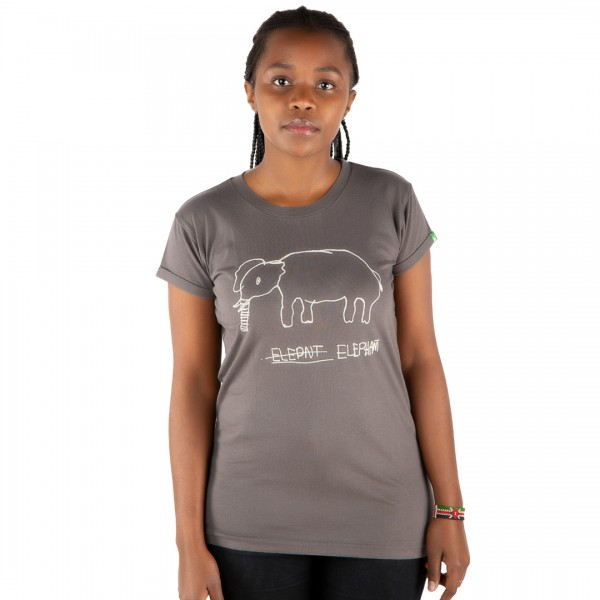 ELEPHANT Frauen Shirt Dunkelgrau